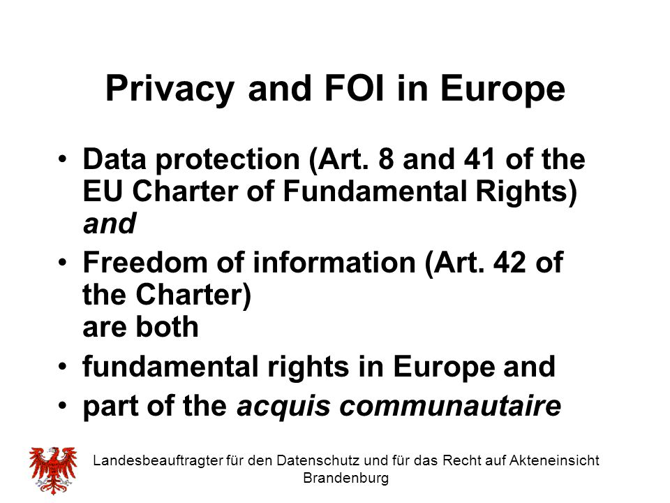 Dr. Alexander Dix, LL.M. Commissioner for Data Protection