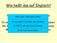 Ziel: To learn how to form the future tense in German ...