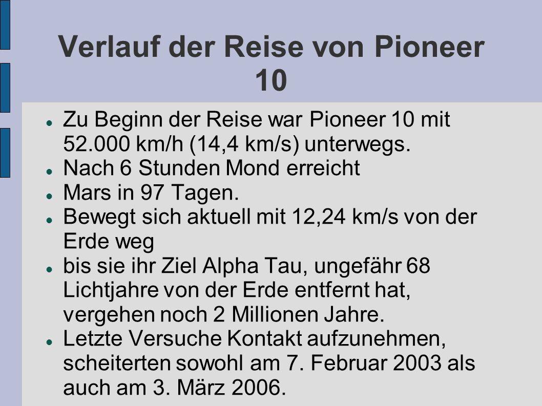 Gliederung Pioneer 10 Pioneer 10 Plakette Die Botschaft