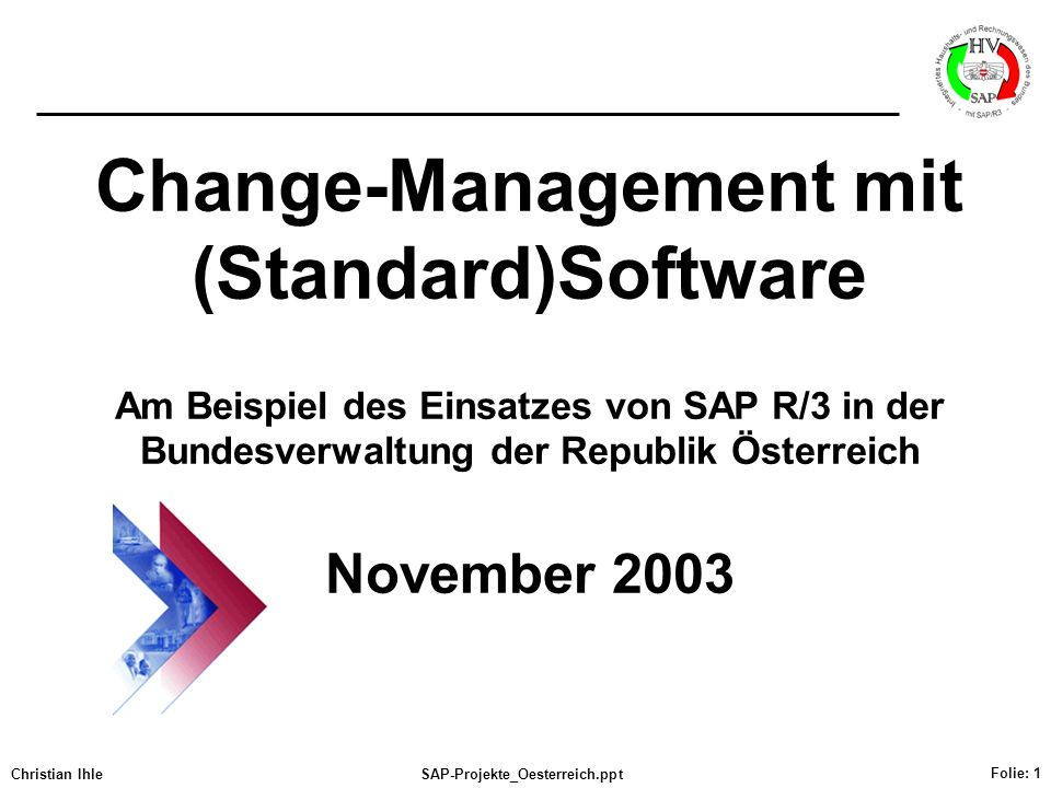 Change-Management mit (Standard)Software Am Beispiel des