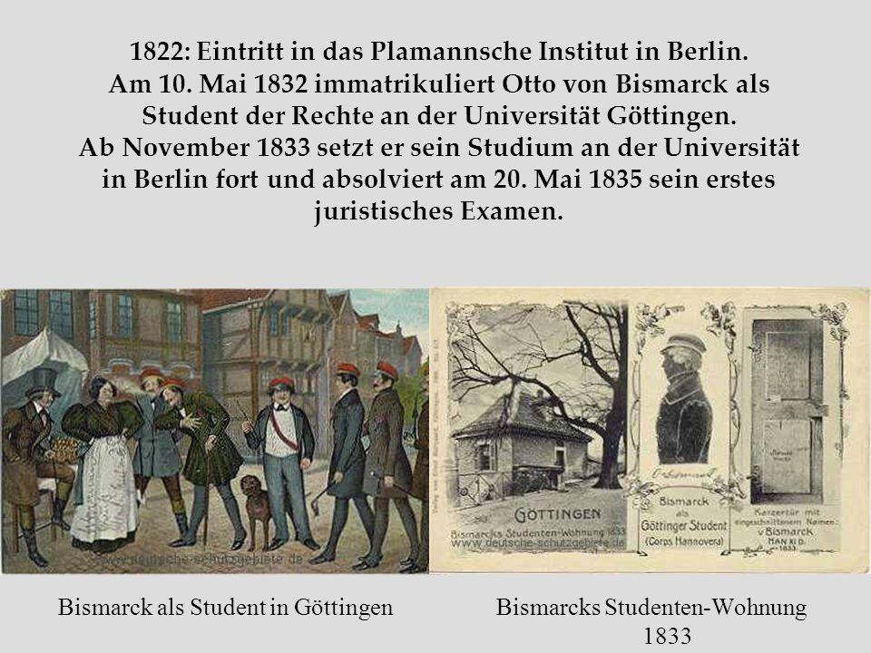 Otto von Bismarck und der Aufbau des einheitlichen