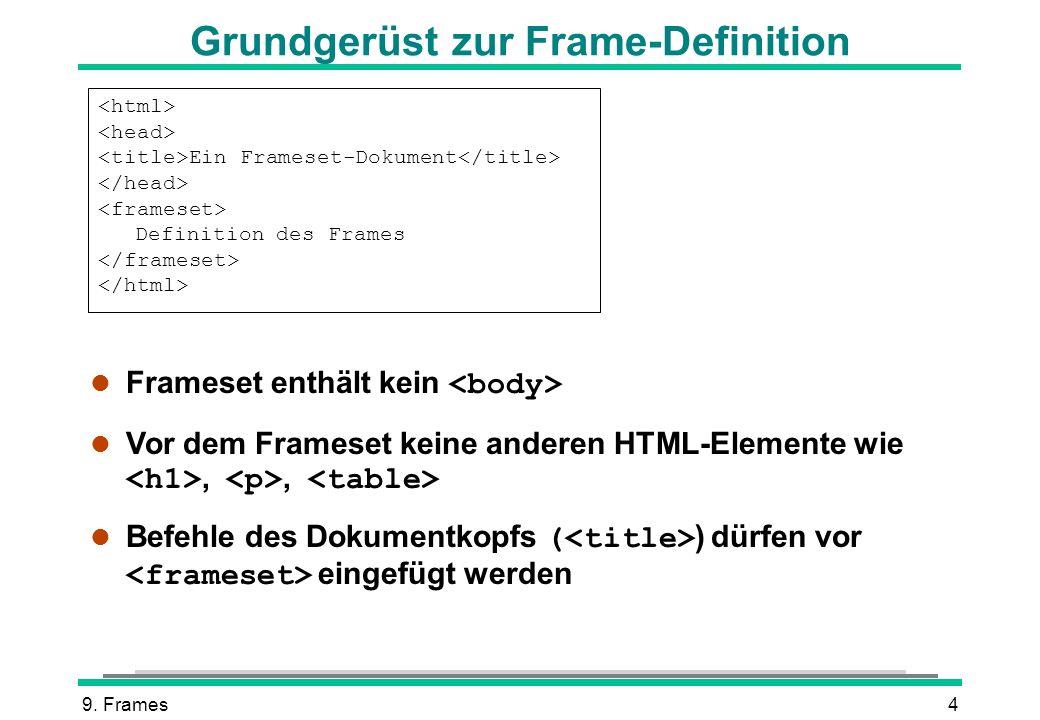 Frame Definition In Html   Allframes5.org