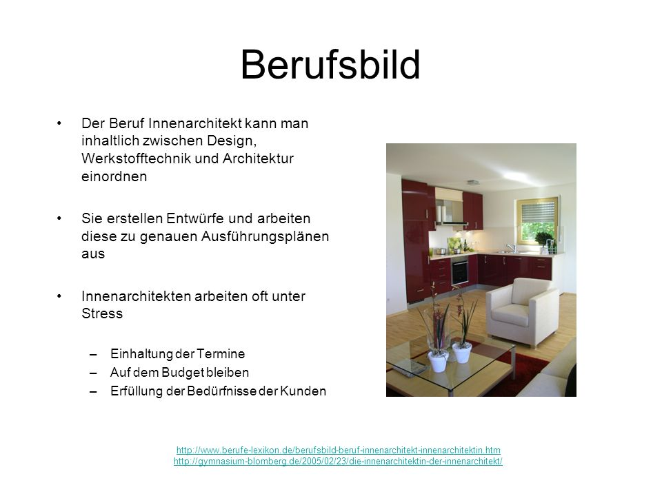 Innenarchitekt. - ppt video online