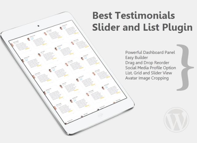 Rich Testimonials - Best Testimonials Slider Plugin