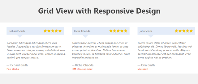 Grid View - Rich Testimonials