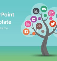 tree diagram powerpoint ppt template colorful tree infographic  [ 1280 x 720 Pixel ]