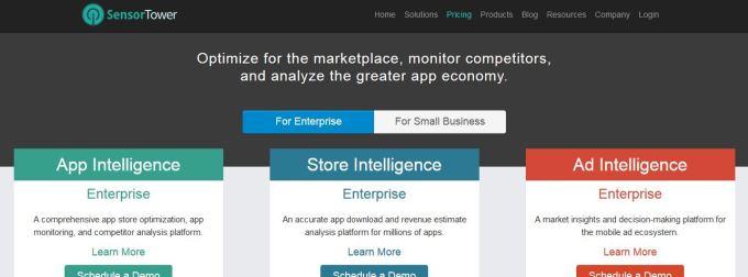 sensor tower app store optimization tool