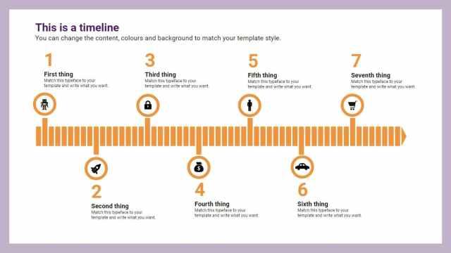 Arrow Timeline. Free downloadable infographics