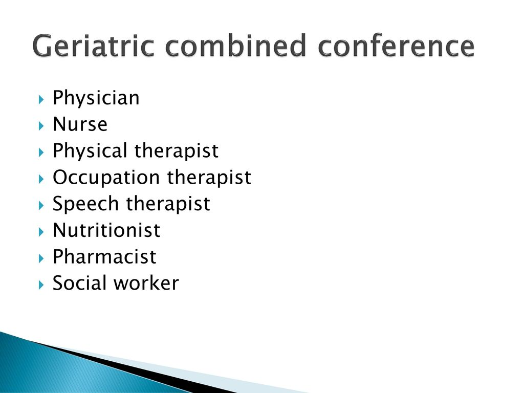 Geriatric combined conference  ppt download