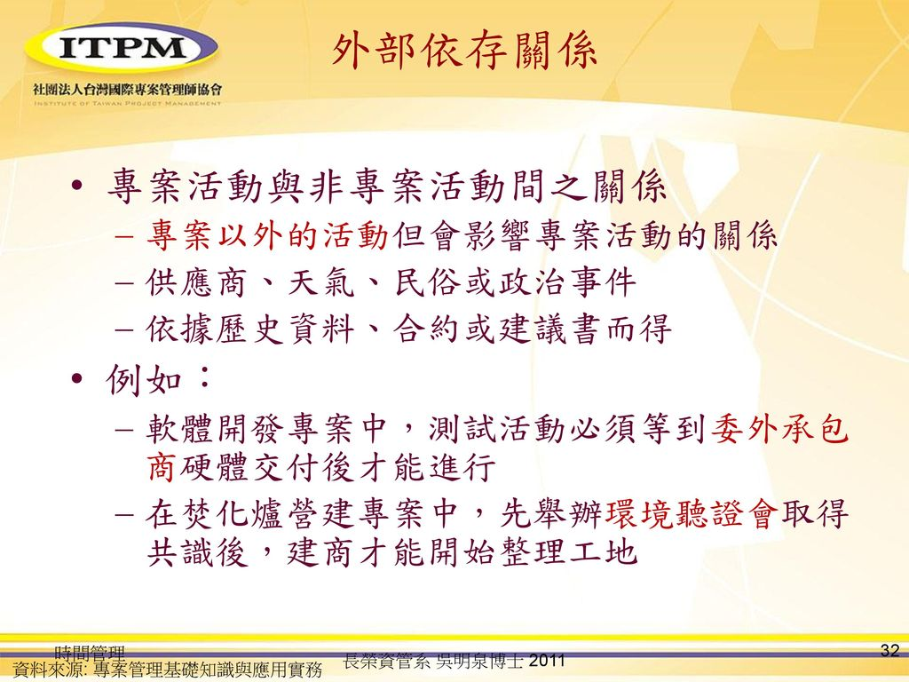 precedence diagram method project management light switch wiring 1 way 專案時間管理 time ppt download
