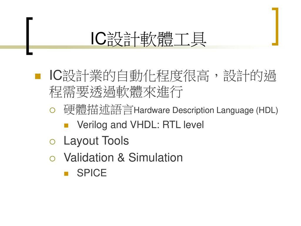 IC設計產業 洪士灝 臺大資工系 ppt download