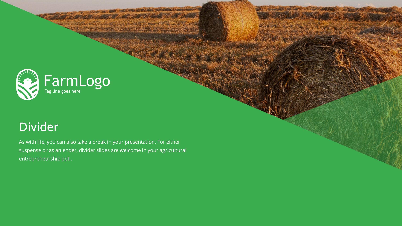 Agriculture Premium PowerPoint Template SlideStore