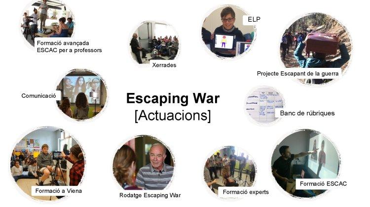 ELP Formación avanzada ESCAC para profesores Charlas Proyecto Escapando de la guerra Comunicación