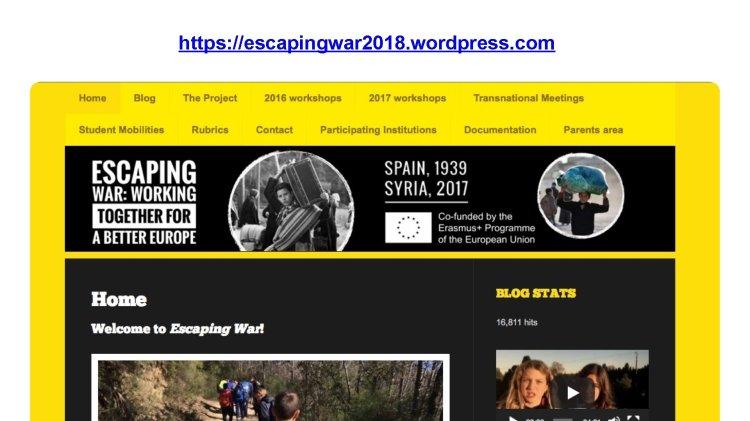 https: // escape de la guerra 2018. wordpress.  com