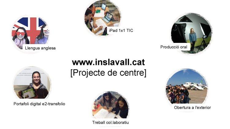 i. Pad 1 x 1 TIC Producció oral Llengua anglesa www. inslavall. cat [Projecte