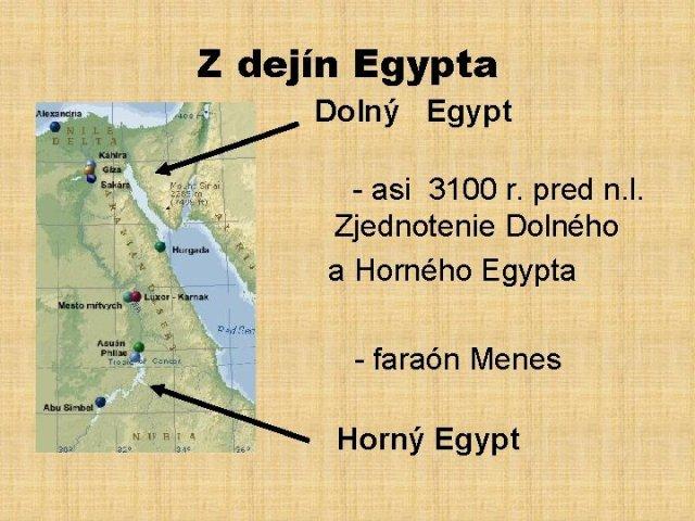 Starovek Egypt Dejepis pre 5 ronk zkladnej koly