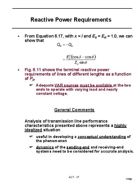 Reactive Power Equation : reactive, power, equation, TRANSMISSION, Copyright, Kundur, Material, Should
