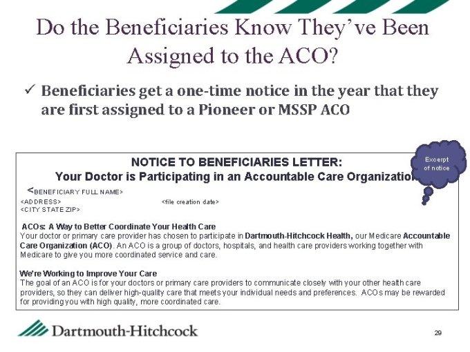 Aco 101 Overview Of Dartmouthhitchcock Health Pioneer Aco