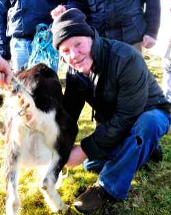Christy Conroy shows how it is done - milking Nelly the Imbolc Goat, Feb 1st 2015