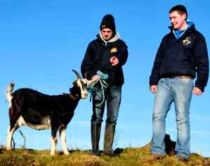 Nelly, Ronan Farrell and Jack Pilkington from Pilko's Pet Farm