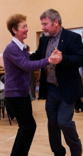 Mary Doyle and Michael O'Rourke step it out at the Slieve Bloom Association 40th Celebrations