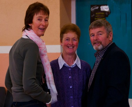 Phil Conroy, Mary Doyle and Michael O'Rourke enjoying the SBA 40th Celebration in Kinnitty