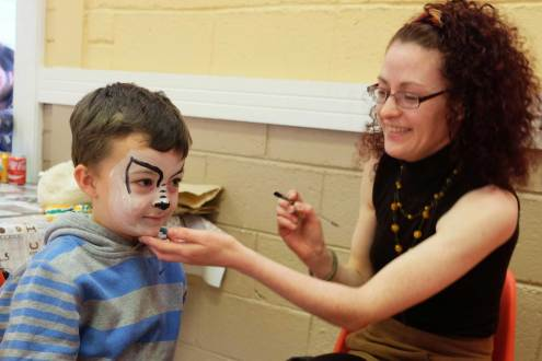 Face-painting at Bealtaine May Bush Festival 2016 - photo Kathleen Culliton