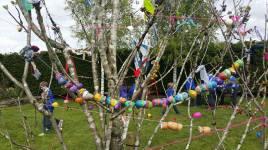 May Bush garland created by Rosenallis National School