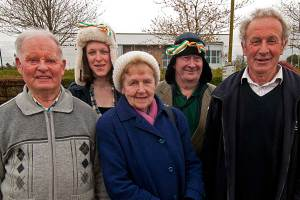 Mick Clear, Mary Rigney, Mary B Culliton, Mick Dowling & Johnny Rigney at Bealtine May Bush Festival 2016 - photo Kathleen Culliton