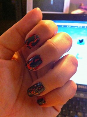Halloween Manicure - Slightly Off Kilter