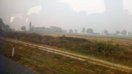 Hazy scenery to Luserna