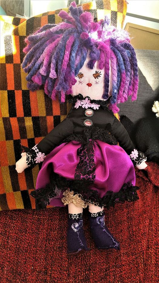 A saucy doll with some detail to show the bloomers!