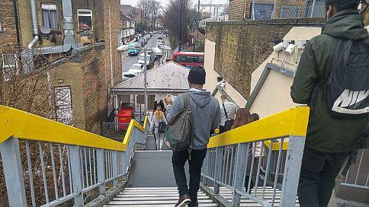 Leaving the station at White Hart Lane