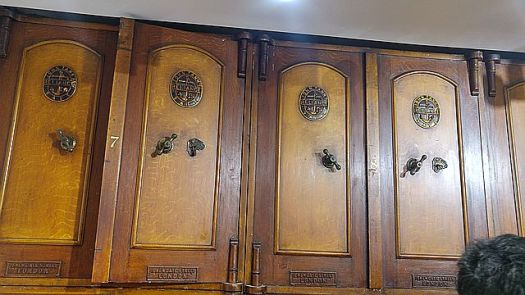 These safe doors were probably four inches thick