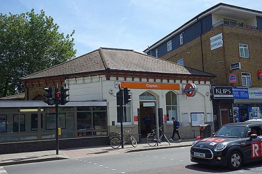 Clapton Station, one stop away from my nearest station
