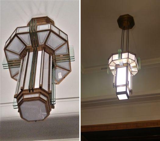 Examples of art deco light fixtures