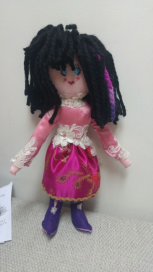 First hot weather idea. I made a doll! She's called Ciao so far
