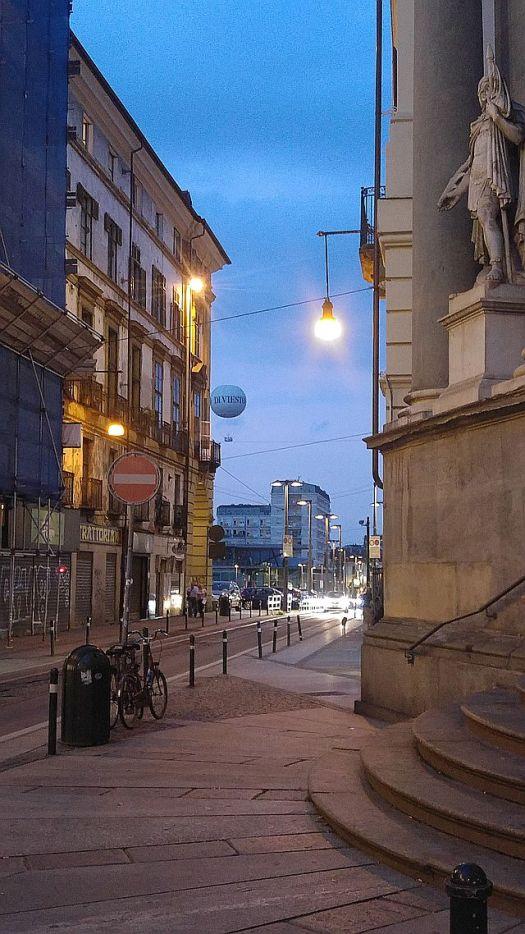 From Via Milano looking across Piazza della Repubblica to Borgo Dora