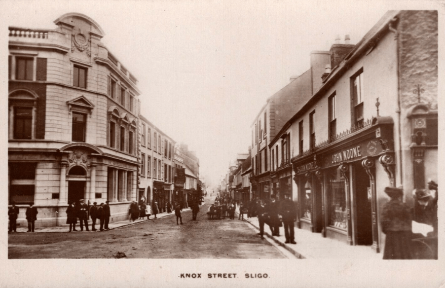 Old postcard of Sligo town