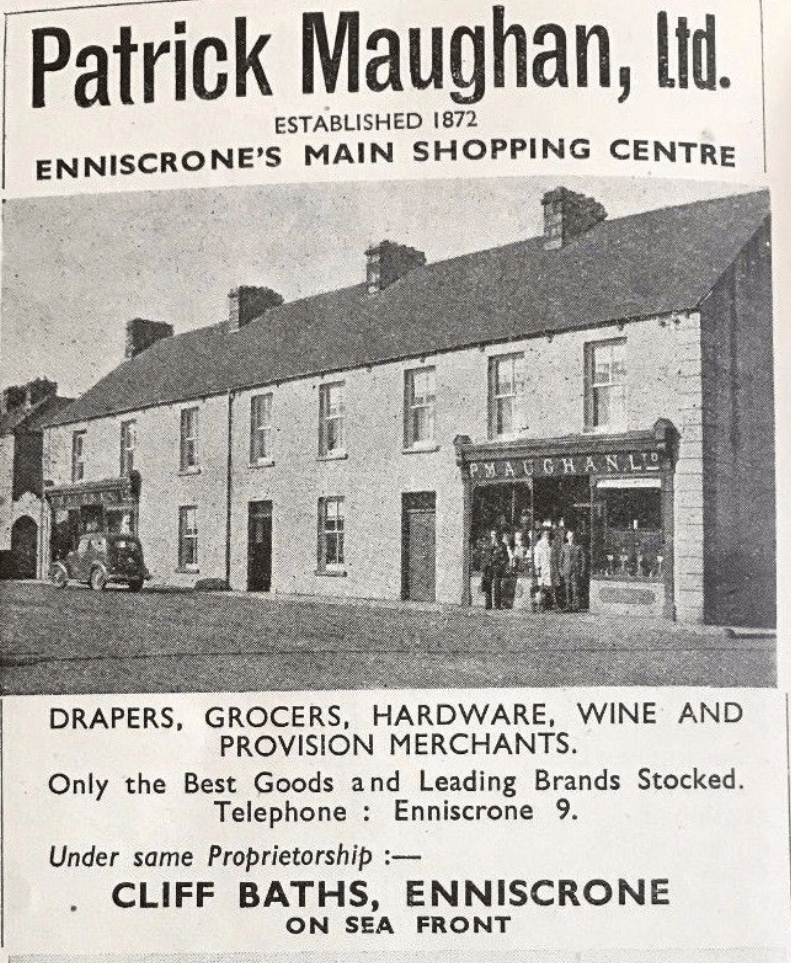 old advertisement for grocers