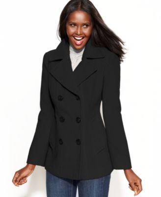 Jason Kole Coat, Double-Breasted Pea Coat