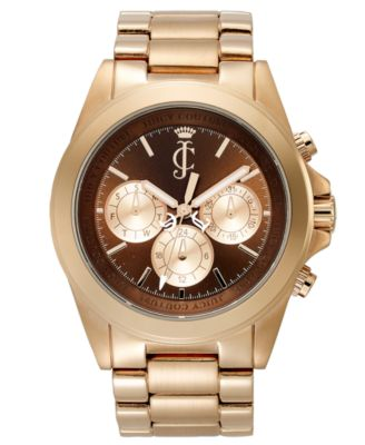 Juicy Couture Watch, Women's Stella Rose Gold Plated Stainless Steel Bracelet 41mm 1900900