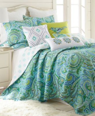 home darjeeling teal twin quilt set