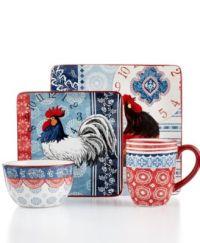 Certified International Dinnerware, Americana Rooster ...