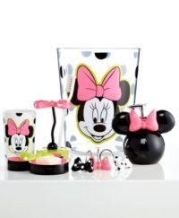 Disney Bath Accessories, Neon Minnie Trash Can - Bathroom ...