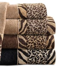 Exotic African safari and animal print towels and ...
