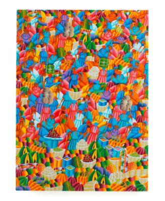 Heart of Haiti Wall Art, Market Scene Canvas Print