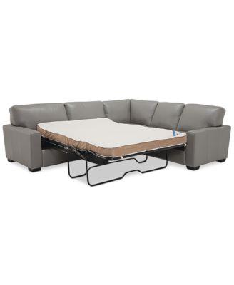 ennia 2 pc leather full sleeper sectional sofa created for macy s