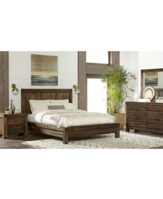 avondale queen 3 pc platform bedroom set bed nightstand dresser