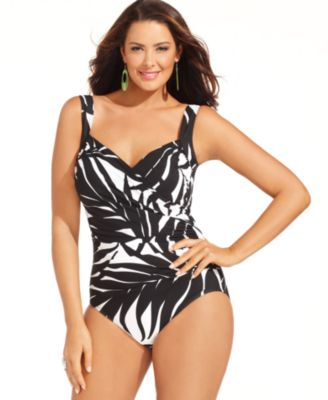 Miraclesuit Plus Size Swimsuit, Sanibel Printed One-Piece